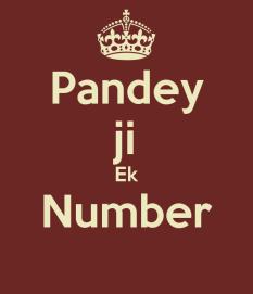 pandey-ji-ek-number